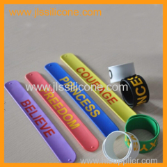 silicone slap wrist band