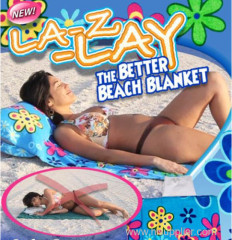 Beach Towel with PVC pillow inflatable pillow