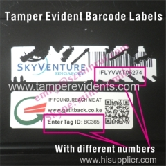 Laminated Cannot Remove Warranty Barcode Labels