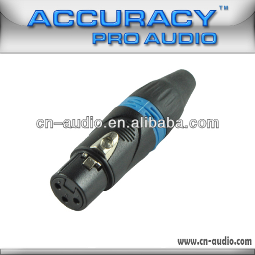 Professional 3 pin New XLR female Audio and Video Connector XLR187BL
