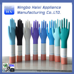 safety disposable colored vinyl gloves
