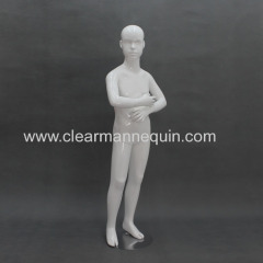 Action style white mannequin kids