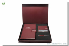 Custom Business Journal Stationery Gift Sets with box