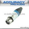 Professional 3pin XLR female Audio Connector With Blue Ring XLR193BL