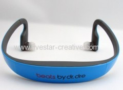 New Monster Beats by Dr.Dre Sports Bluetooth Stereo Neckband Earbuds Headsets HD505 Blue