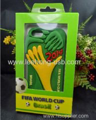 2014 Brazil world cup phone shell with embossed logo