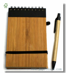 80-sheet Spiral-Bound College ruled hardback notepad with elastic