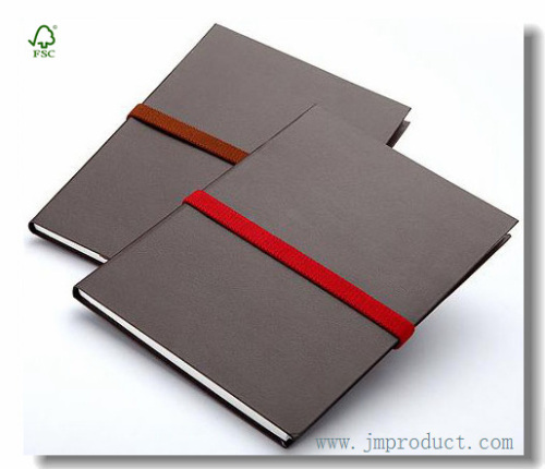 Custom Leatherette Hardback Journal Notebook With Elastic Band