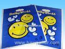 Blue Punch garment Die Cut Handle Bags LDPE polybag environment for T Shirt