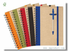 Kraft spiral composition notebook with elastic bend