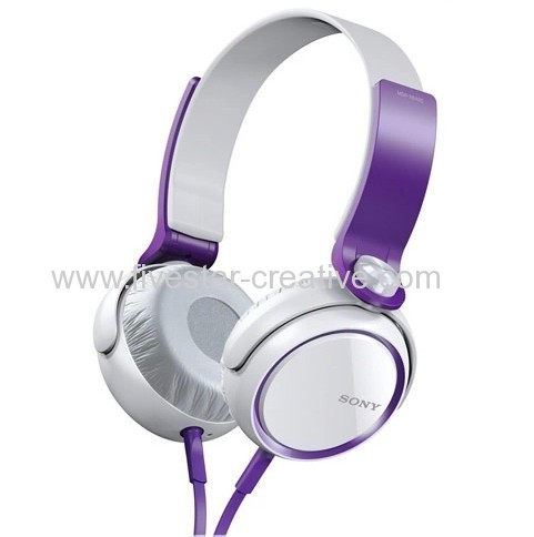 Sony Extra Bass Headphones MDR-XB400 Over the head Headphones Purple And White