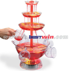 party cocktail fountain glass