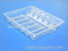 Plastic packaging tray for medical vial