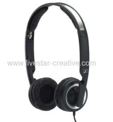 Sennheiser PX200 II Closed Ear Mini Folding On-Ear Stereo Headphones with Volume Control Black