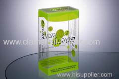 Plastic PET folding box for gift