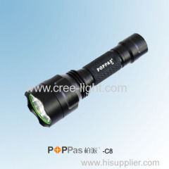 500 lumens Classic C8 Design CREE XM-L T6 LED High Power Hunting Flashlight POPPAS-C8