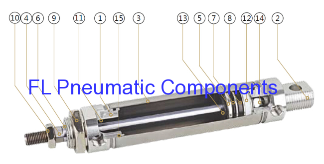 Stainless Mini Air Cylinder
