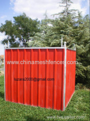 Red colour privacy steel hoarding panel