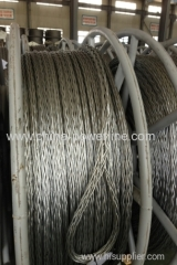 pilot wire stringing anti-twisting braided steel wire