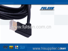 1080P right angle hdmi cable support 1.4 and 1.3 version