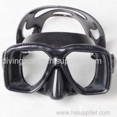 M27BS-BK-01 Prefessional scuba diving equipment silicone diving mask and snorkel mask