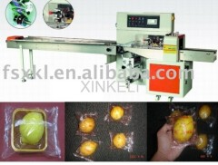 New machine pillow type fresh fruit packing machine for orange lemon packing in China factory
