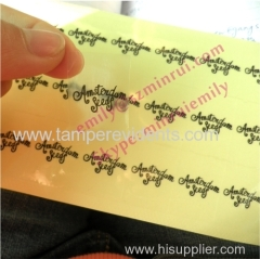Custom Transparent Adhesive Stickers