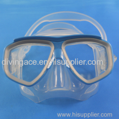 High grade colorful silicone diving mask