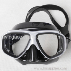 High grade colorful silicone diving device-double lens diving mask-low factory price-dongguan manufacturer