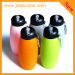 Collapsible Silicone Reusable Sports Bottles with carabineer