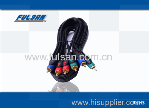 rgb cable 3rca to 3rca male cable