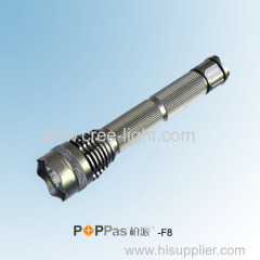 10W Brightest CREE XM-L T6 Aluminum Hunting LED Torch POPPAS-F8