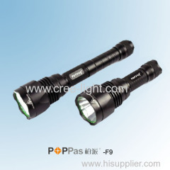 Waterproof IPX7 CREE XM-L T6 600Lumens Brightest Aluminum Tactical LED Flashlight POPPAS-F9