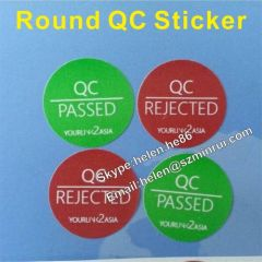 removable adhesive no residue round qc sticker label