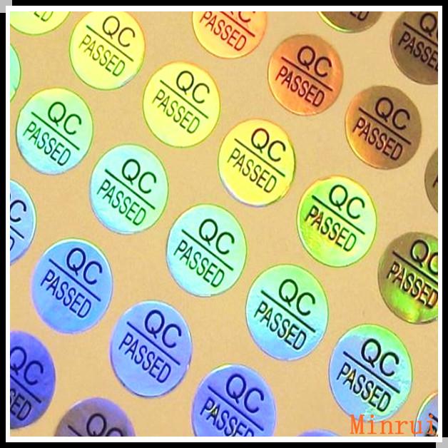 Removable Adhesive No Residue Mm Diameter Round QC Sticker Label - Custom vinyl stickers easy peel off