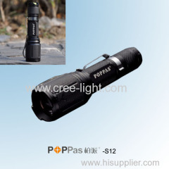 400lumens Ultra Power CREE XML T6 Aluminium Telescopic ZOOM LED Portable Torch POPPAS-S12