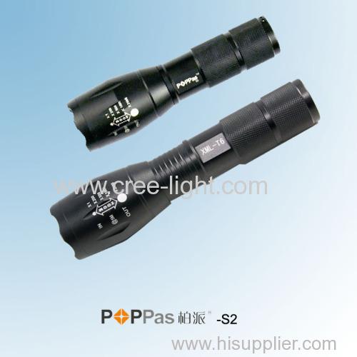 Idea From Stormeye 400lumens CREE XM-L T6 Zoom High Power LED Flashlight POPPAS-S2