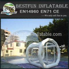Family clear inflatable lawn tent