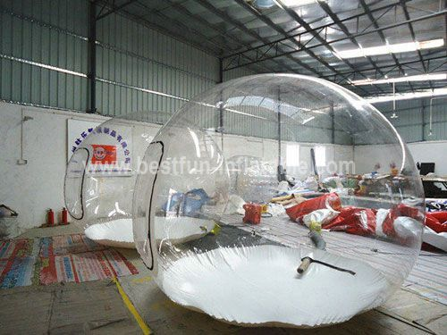 Outdoor inflatable camping bubble tent