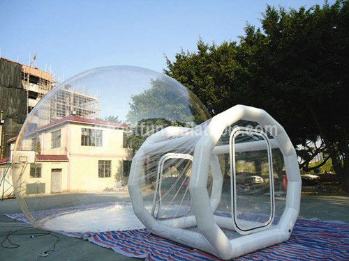 Transparent bubble inflatable lawn dome