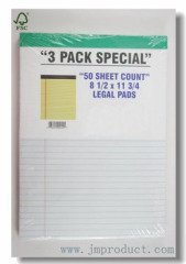 white paper wide ruled legal pads