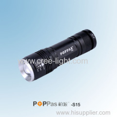 Hot For Promotion 350lumens CREE XM-L T6 Mini Focus Tactical or Camp LED Light with 5 function POPPAS-S15