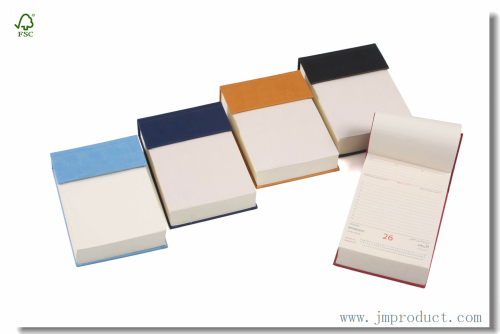 Top open mini white paper notepads with hardback
