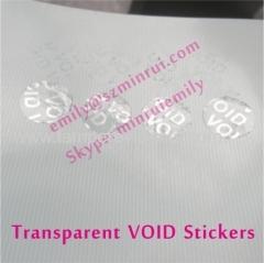 Custom Transparent Warranty VOID Stickers Transparent Warranty - Custom vinyl stickers transparent