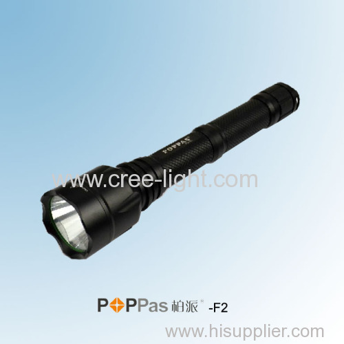CREE XM-L T6 10W Super Power Aluminum Hunting Rechargeable Torch POPPAS-F2