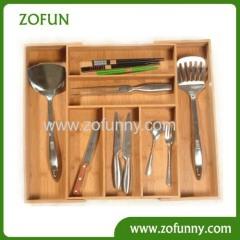 bamboo cutlery utensil knife box