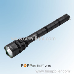 3X 18650 Rechargeable 800Lumens CREE XM-L T6 Professional Brightest Tactical LED Flashlight POPPAS-F10