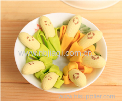 Skinning banana eraser with expression(2pcs)