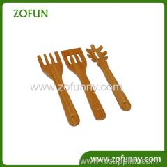 Natural bamboo spoon kitchen utensil
