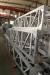 Aluminum alloy inner-suspended lattice gin pole